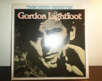 Vintage 1975 Vinyl LP Record The Very Best of Gordon Lightfoot Near Mint Condition 8609