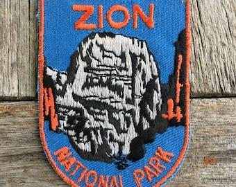 Zion National Park Vintage Souvenir Travel Patch from Voyager