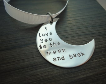 I love you to the Moon and Back Ornament - Christmas Tree Ornament - Christmas Decoration - Mom gift - Gift for Her