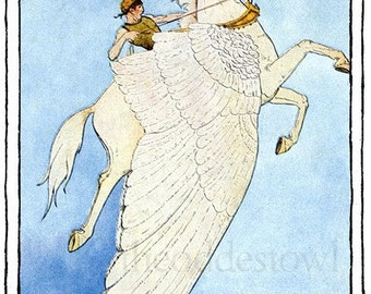 Pegasus in Flight Bookplates (Personalized or Blank)