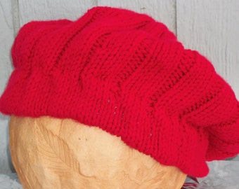 Once Upon a Time Inspired Hand Knitted Ruby/Red Ridinghood Cap