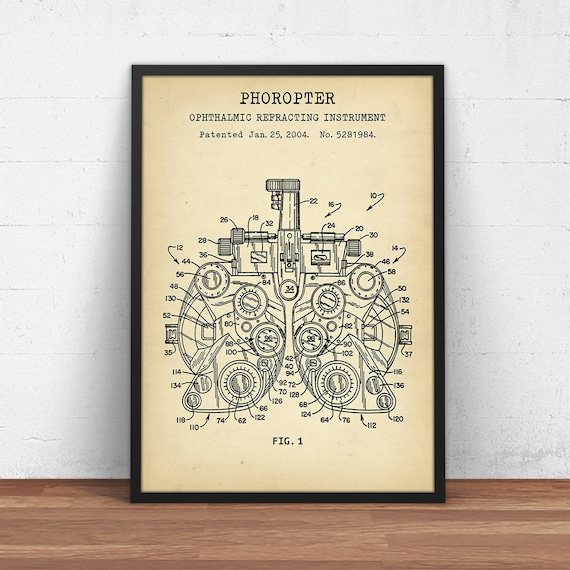 Phoropter patent print digital download blueprint art phoropter patent print digital download blueprint art optometry wall art eye clinic decor poster printable eye docter optometrist gift malvernweather Image collections