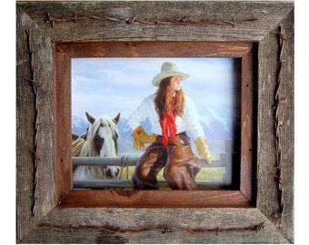 Texas Vaquero Western Frame - Barbed Wire