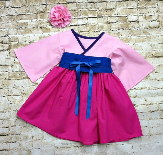 Mulan Dress Pink Girls Twirl Dress Mulan Birthday