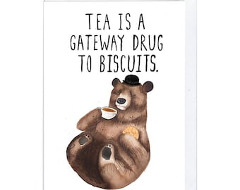 Tea and Biscuit Bear Greeting Card