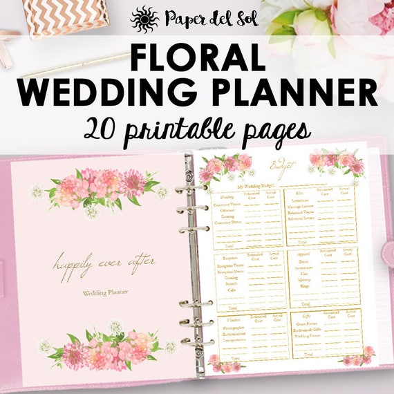 Wedding Planner Printable Wedding Planning Printables