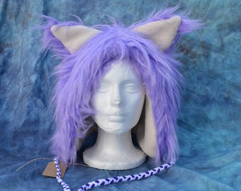 Lavender & Cream Ear Hat
