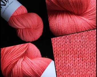 "Dyed to Order, Hand Dyed Yarn, Hand Dyed Sock Yarn, Hand Dyed DK Yarn. ""Peachy Keen"""