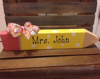 Personalized Pencil  Desk Name plate