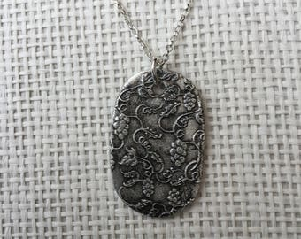 Handmade pure silver pendant necklace