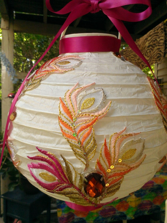 Fushia U0026 Peach Paper Lanterns, Outdoor Party Lighting From ISLANDFLAVORS On  Etsy Studio