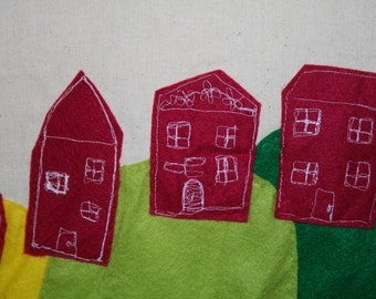 Stitch work tote bag