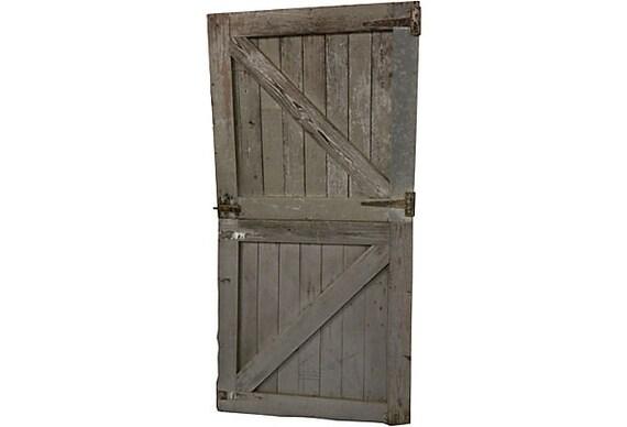 Race Track Horse Stall Dutch Doors Pair Vintage Barn Doors Rustic