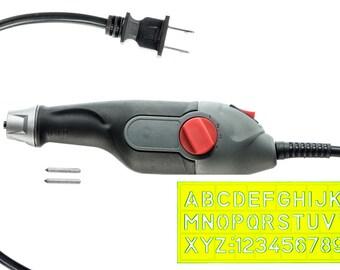 Electric Engraver Set, 2 Stencil, Extra Tungsten Carbide Tip