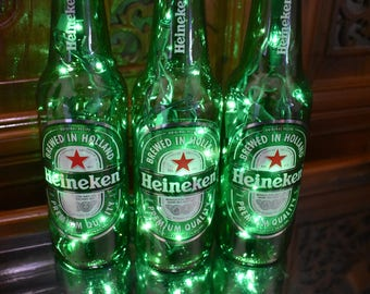 Corona light beer bottle light 3 pack frosted glass yellow heineken beer bottle light 3 pack green lights lighting accents bar light beer lamp heineken brewery holland beer heineken beer mozeypictures Image collections