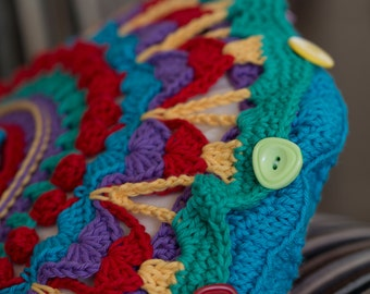 Mandala Cushion Crochet PDF pattern