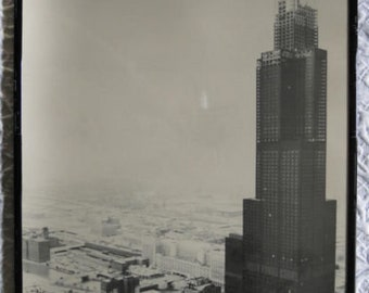 "VTG Historical Chicago 1973 Willis Tower (Sears Tower) Photo 20"" x 16"""