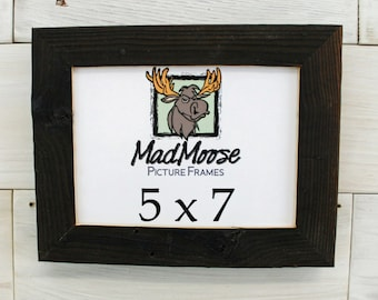 """5x7 Charcoal Wood [Chunky x 1.25""""] Picture Frame"""
