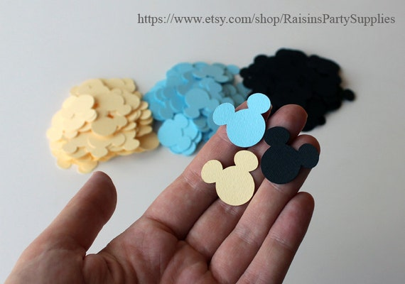 how to make mickey mouse head cutouts