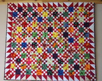 Farmer's Market/Picnic Quilt-MADE TO ORDER