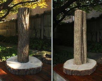 Custom All Natural Bark Scratching Post - Tree Bark Cat Scratching Post - Bark Cat Scratchers - Custom Cat Furniture
