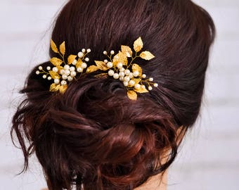 Wedding hair clip Bridal hair pins Gold hair pin Wedding hair jewelry Wedding hair piece Bridal hair piece Wedding hair pins Wedding hairpin