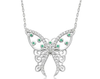 Silver Butterfly Necklace - IJ1-1344