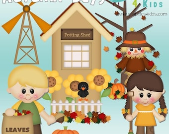 Scarecrow clip art etsy autumn days digital clipart clip art for scrapbooking party invitations instant download clipart voltagebd Gallery