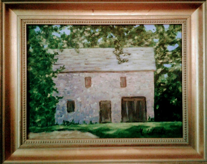 "Historic ""Stone Stable, Cir1812"", Wilson Warner House, Odessa,Delaware, Offered by Artist"