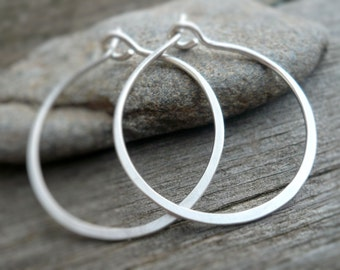 Every Day Hoops - Handmade in Brushed Sterling Silver