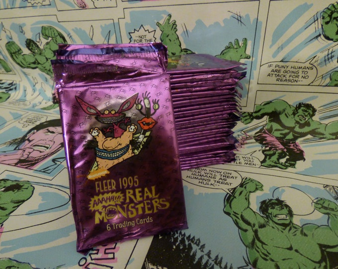Featured listing image: Nickelodeon's AAAHH!!! Real Monsters Trading Cards