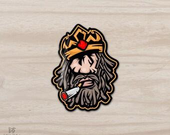 King Rasta sticker, vinyl sticker, cool laptop sticker, laptop decal, art sticker, phone sticker, Ipad sticker, car sticker