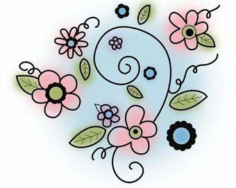 Flowers - Imaginisce - Rubber Acrylic Stamp