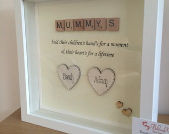 Personalised Scrabble Mum frame