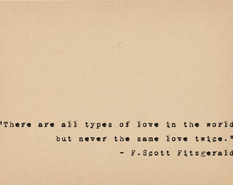 F Scott Fitzgerald Quote   Literary Art Quote Print   1920s Flapper Writer  Quote   Great