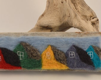 Colourful jellybean row houses to hang on your wall