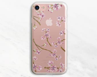 Cherry Blossoms iPhone 7 Case Clear iPhone 6 Case Clear iPhone 6 Plus Case Clear iPhone 7 Plus Case Clear iPhone Case Clea