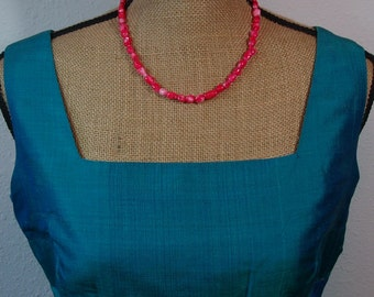 Natural Untreated AAA Grade Pink Salmon Coral,.925 Silver Necklace and Earrings