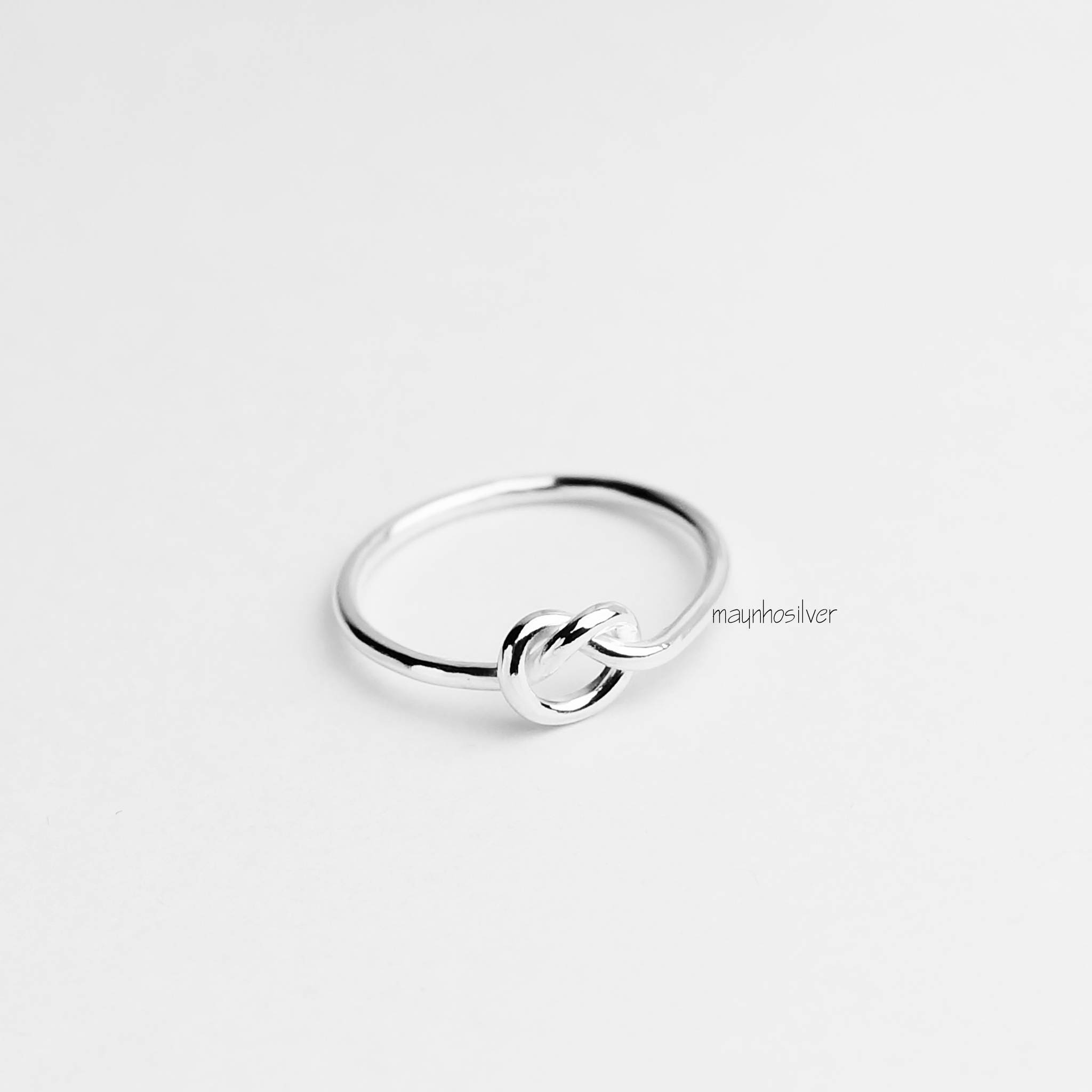 Love knot ring Wire wrapped ring Sterling Silver Knotted