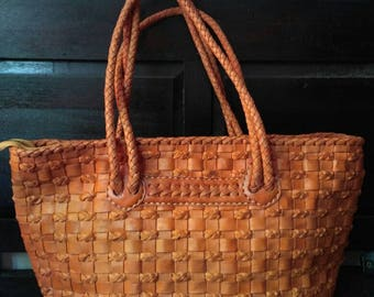 Melly Woven Leather Tote