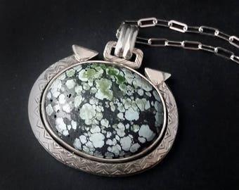 Himalayan Sage Green Turquoise Pendant
