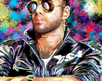 George Michael Art, Pop Art Painting, Wham Original Art Print