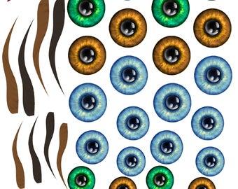 Printable Eye Irises for your Creative Needs
