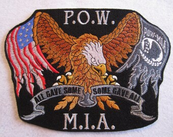 Large Embroidered Iron on Patch, Embroidered Applique, Patriotic Patch,Biker Patch, , Vietnam Patch