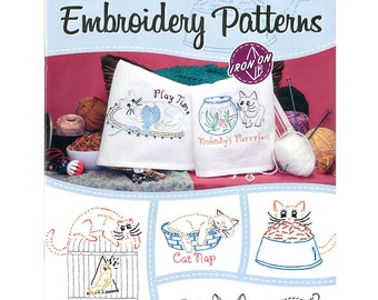 Aunt Martha's Embroidery Pattern clever Kitties #408