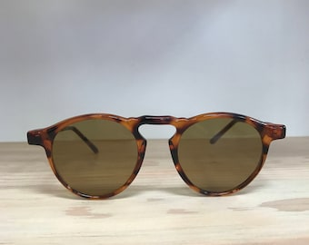 Round Vintage sunglasses tortoise black