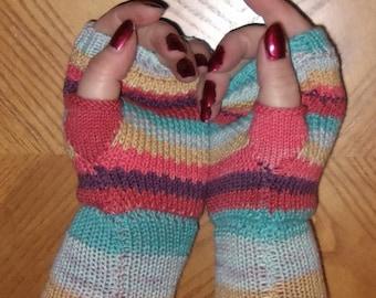 Fingerless gloves made from merino wool