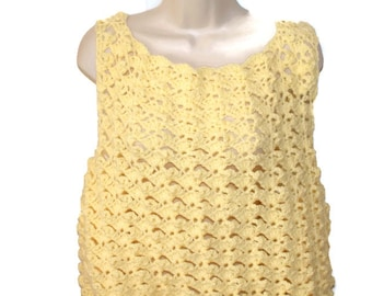 Plus Size Clothing, Womens Sweater, Womens Clothing, Plus Size Cami, Womans Top, Womans Shell, Crochet Top, Yellow Sweater, Womens Cami