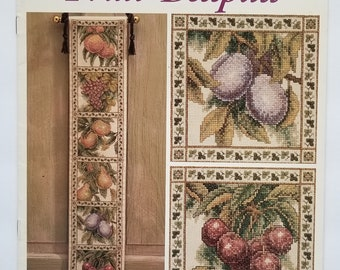 Counted cross stitch pattern | Teresa Wentzler | Fruit bellpull | Botanical cross stitch