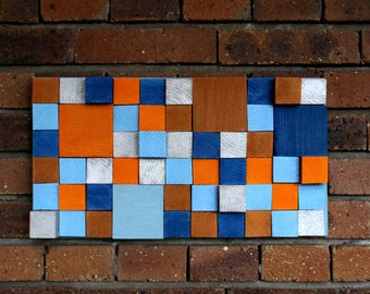 Picture of painted wooden cubes